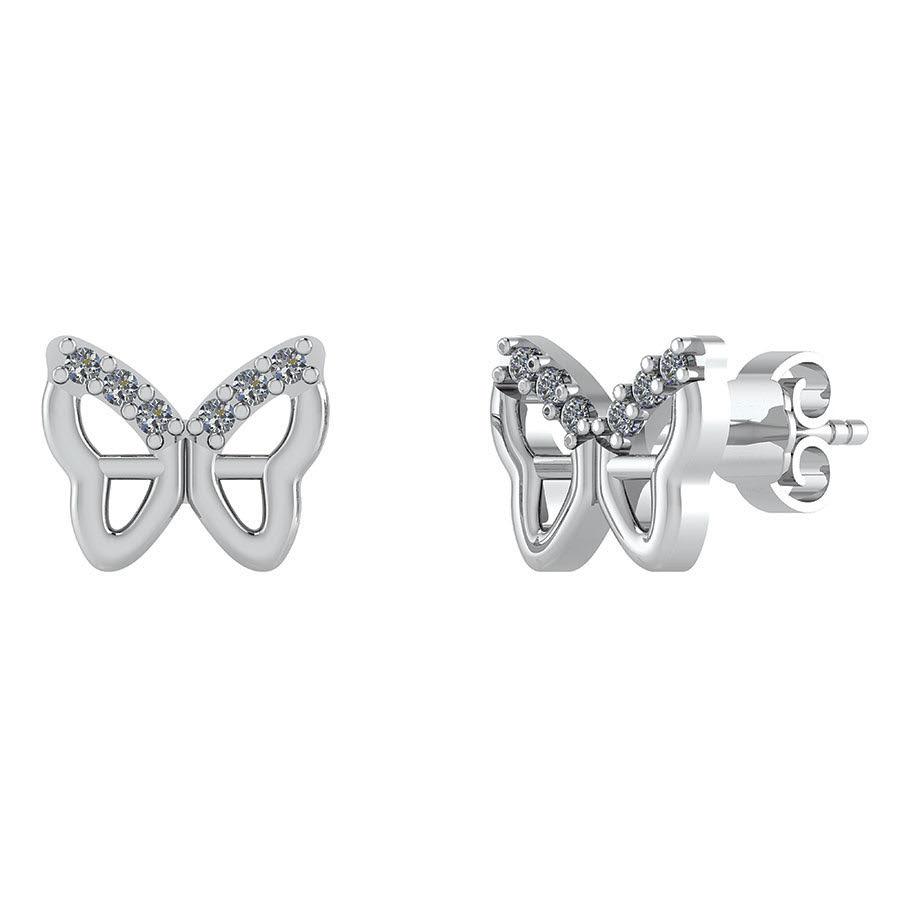 Smykkekæden Sølv Ørestikker med Sommerfugle-motiv DMB0296S