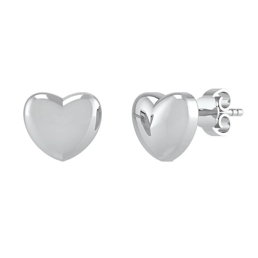 Smykkekæden Sølv Ørestikker med Hjerte-motiv DMB0298S