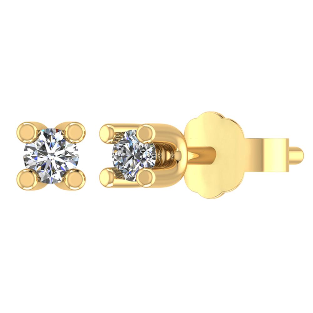 Image of   Smykkekæden 14 Karat Guld Ørestikker med Diamanter DMB050RG585