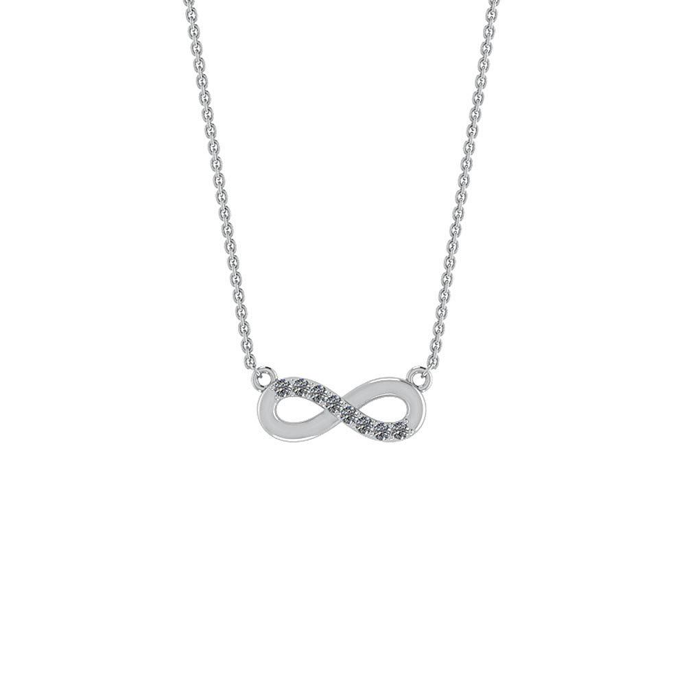 Sterling Sølv Halskæde fra Smykkekæden med Evighedstegn