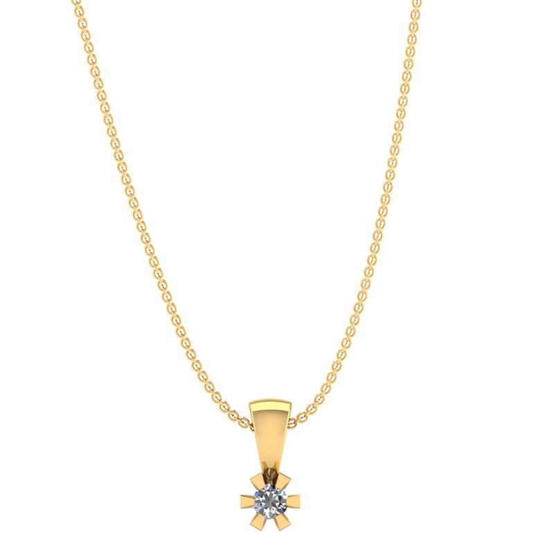 Image of   14 Karat Guld Vedhæng fra Henrik Ørsnes Design med Diamant 0,05 Carat W/SI