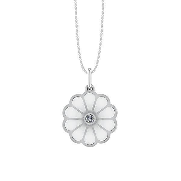 Smørblomst Sølv Halskæde fra Smykkekæden DMM0342S