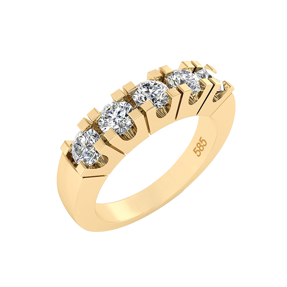 Image of   14 Karat Guld Ring fra Henrik Ørsnes Design med Brillanter 1,65 Carat W/VVS