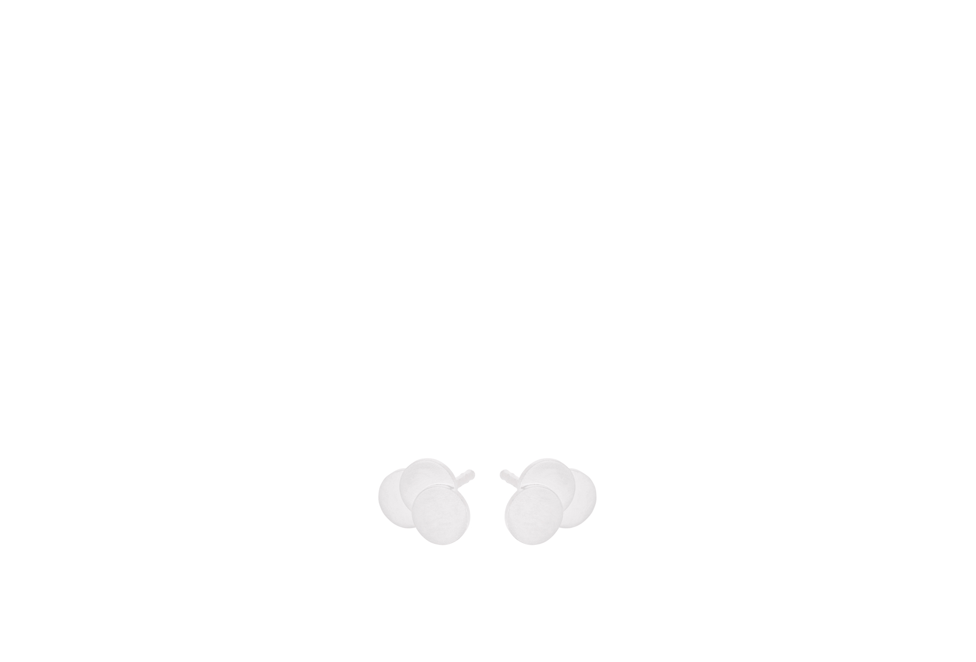 Tripple Coin Earstick Sølv Øreringe fra Pernille Corydon