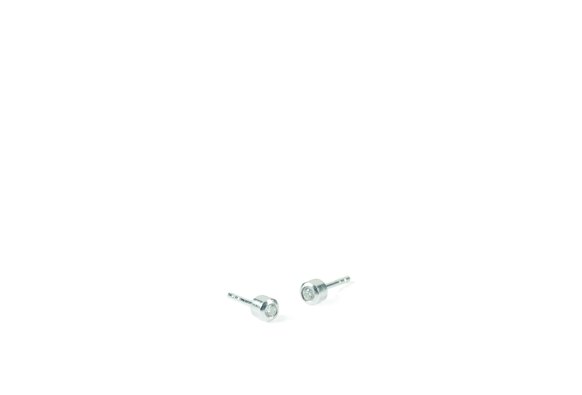 Diamond Earsticks Sølv Øreringe fra Pernille Corydon med Brillanter 0,03 Carat