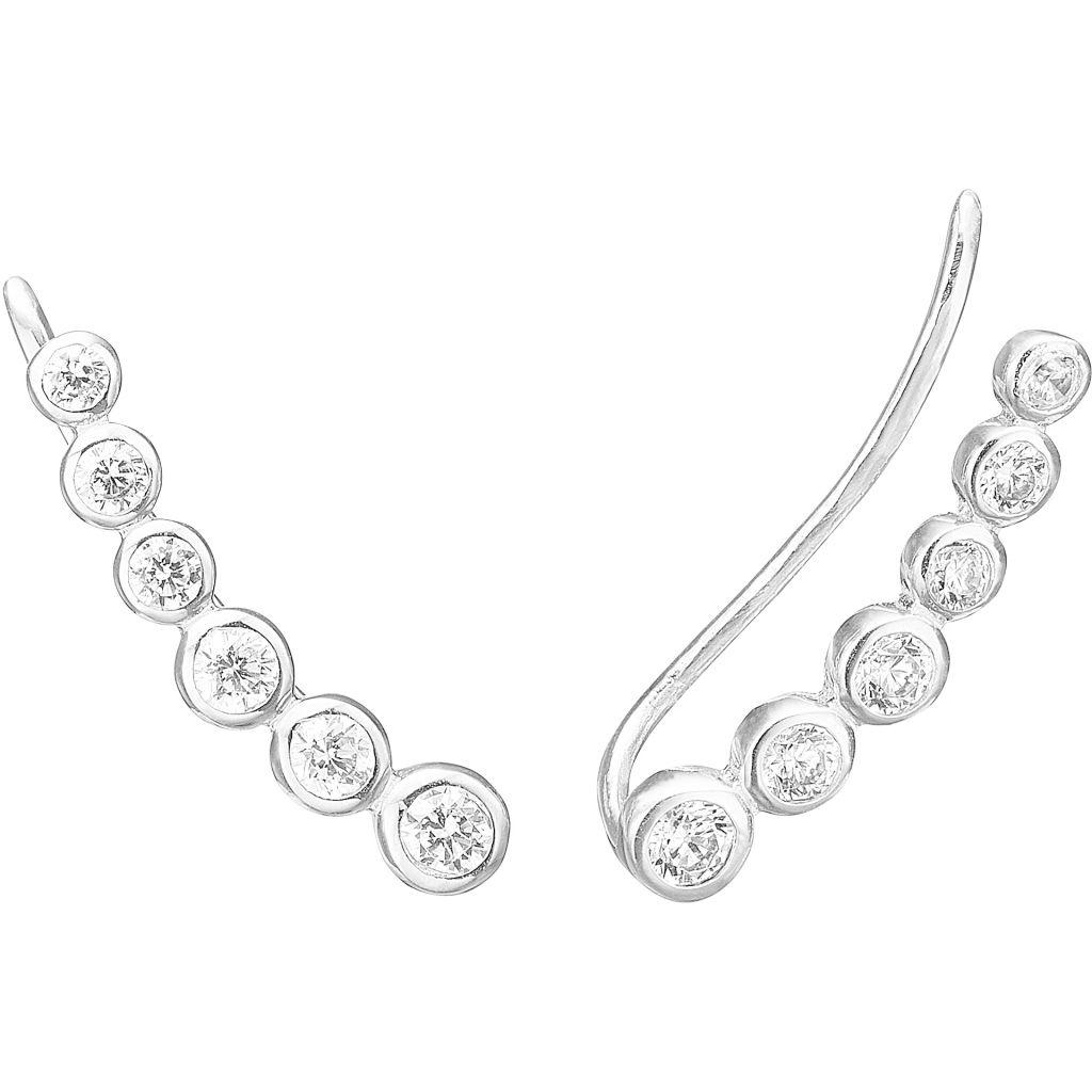 Six Dot Sterling Sølv Øreringe fra Enamel E21S