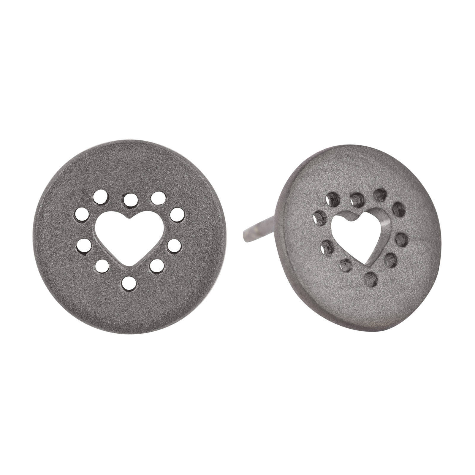 Hjerte Sølv Ørestikker E.1221SRH