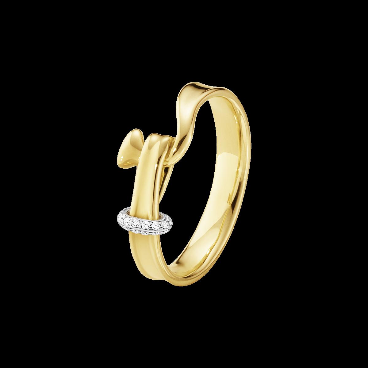 Georg Jensen Torun 18 Karat Guld Ring med Brillanter