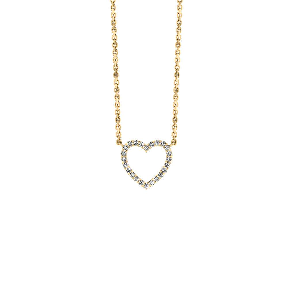 Hjerte Forgyldt Sølv Halskæde fra Smykkekæden