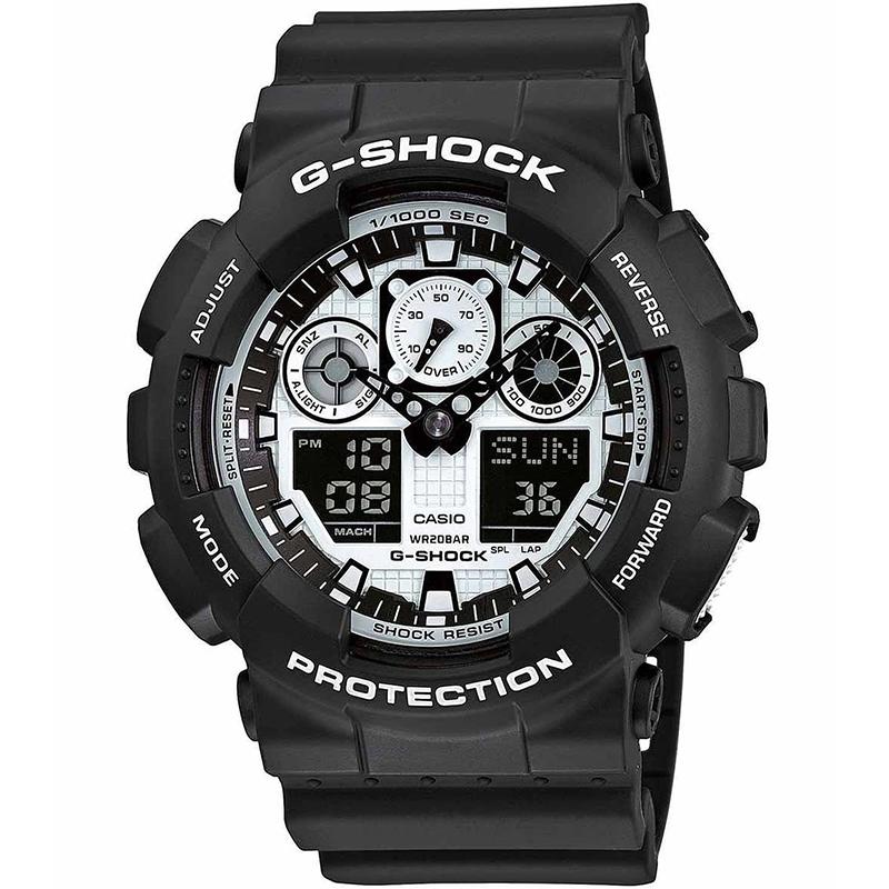 Image of   G-Shock Herreur Fra Casio GA-100BW-1AER