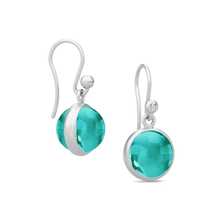 Julie Sandlau Prime Emerald Sterling Sølv Øreringe