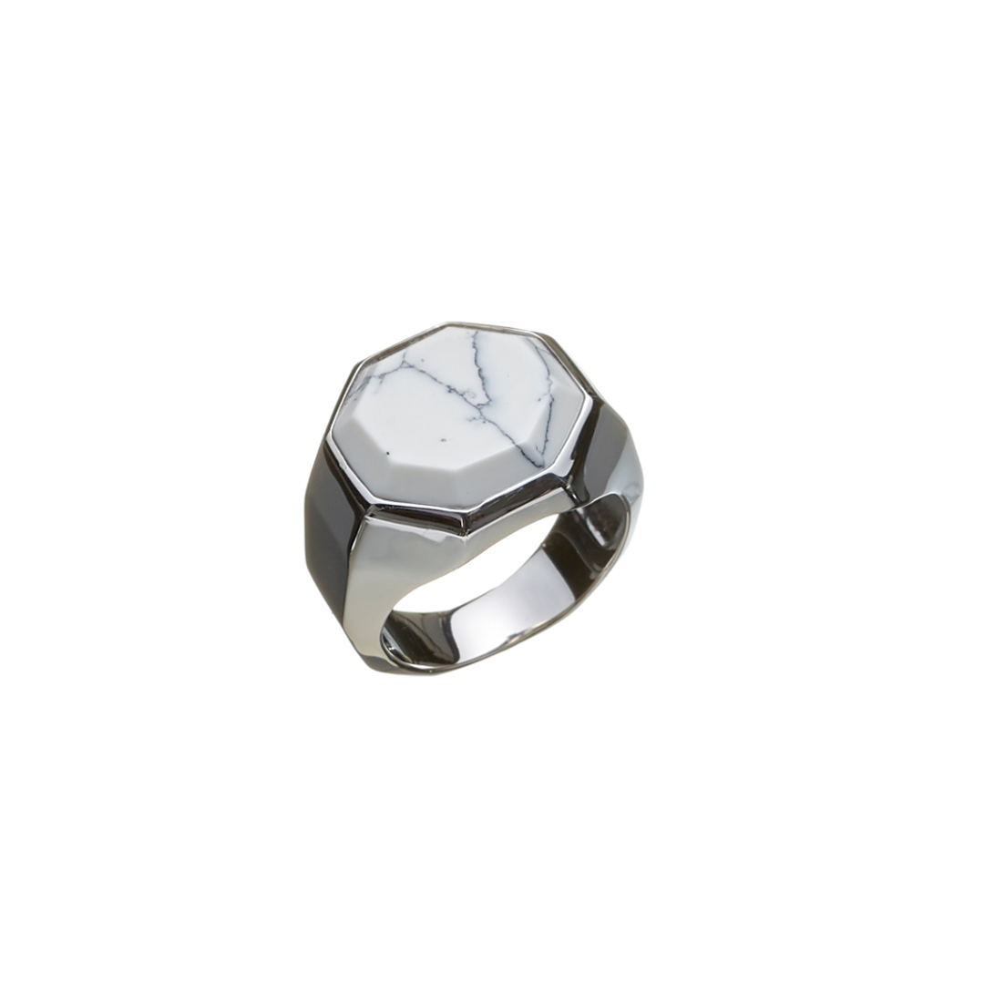 Image of   ALEXANDER LYNGGAARD HOPE SIGNET HOWLITE RING