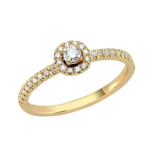 Nuran Sofia Ring i 14 Karat Guld med Diamanter 0,25 Carat W/I