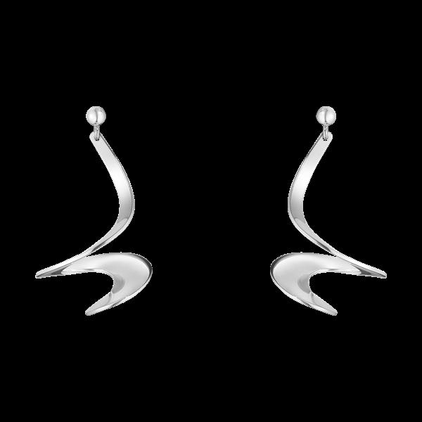 Georg Jensen Möbius øreringe i Sølv