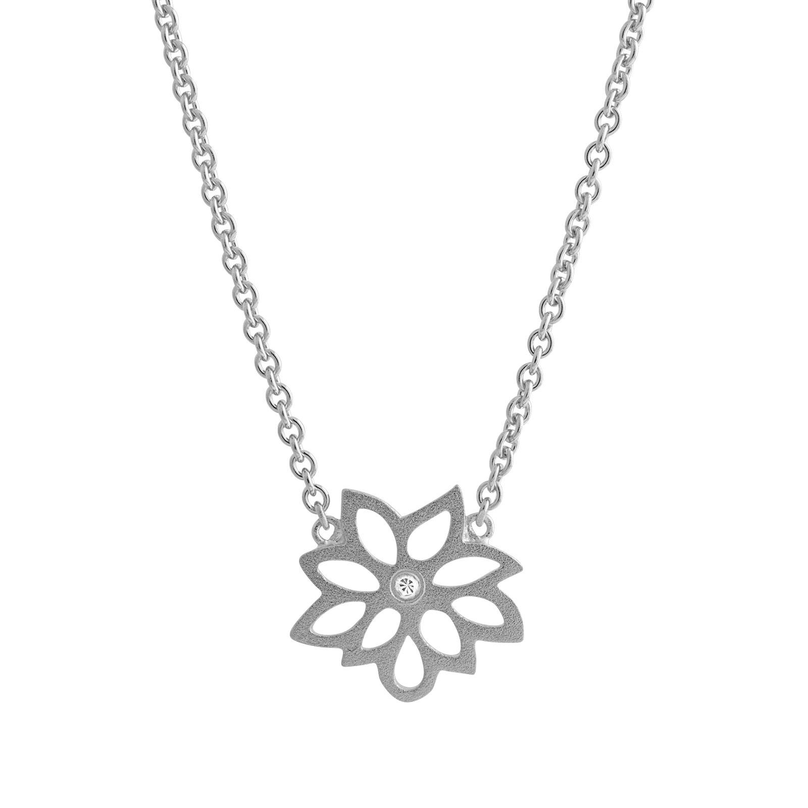 Dahlia Sølv Halskæde fra Lene Visholm N.1269RH