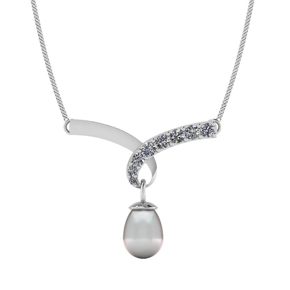 Smykkekæden Sølv Halskæde med Perle NNC17852001