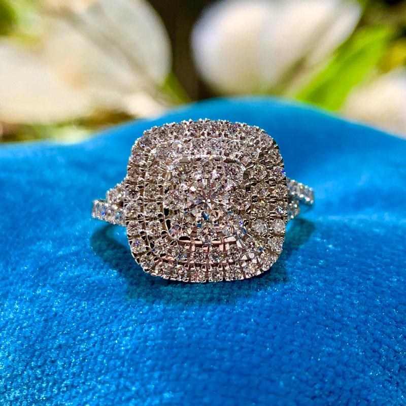 Image of   14 Karat Hvidguld Ring fra Henrik Ørsnes Design med Brillanter 1,022 Carat TW/SI