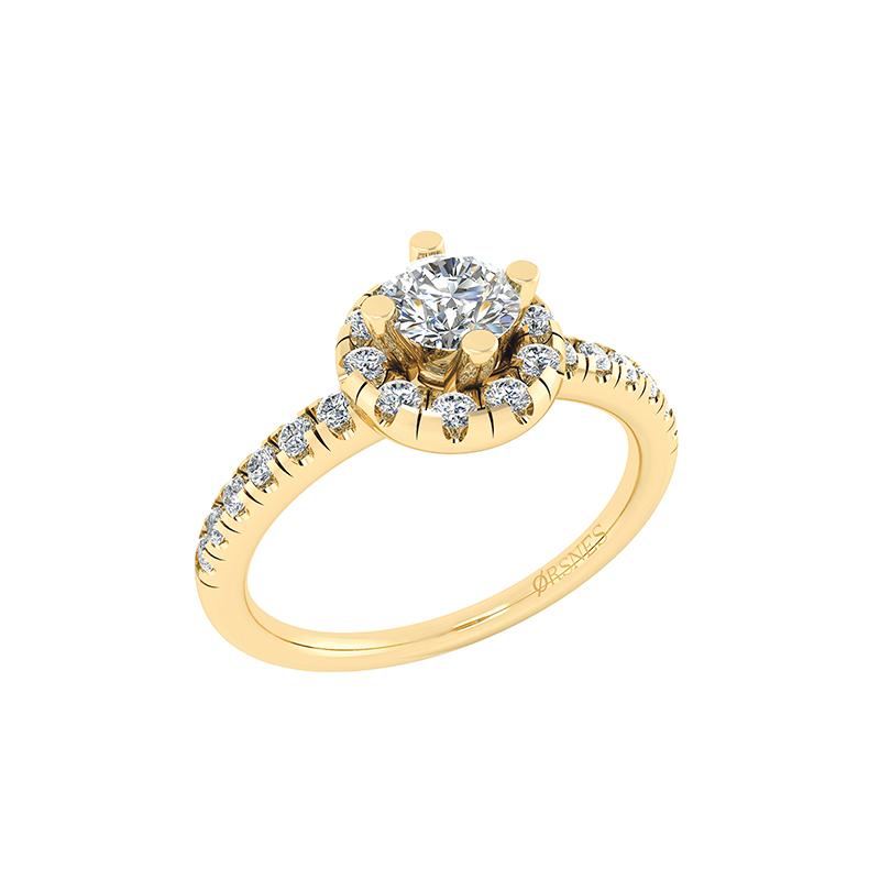 Image of   14 Karat Guld Ring fra Henrik Ørsnes Design med Brillanter 0,92 Carat W/SI