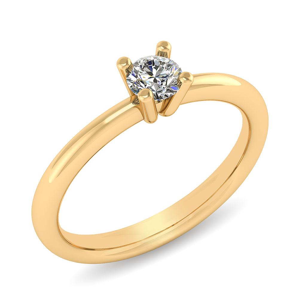 Henrik Ørsnes Design Fiona 14 Karat Guld Ring med Diamant 0,35 Carat W/VVS