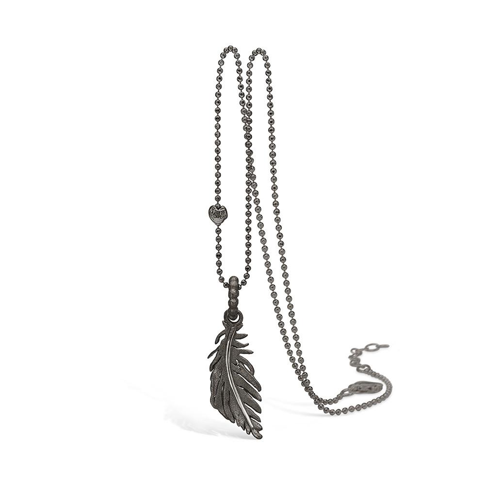 Sølv Halskæde fra Blossom med Fjermotiv 22301121-80