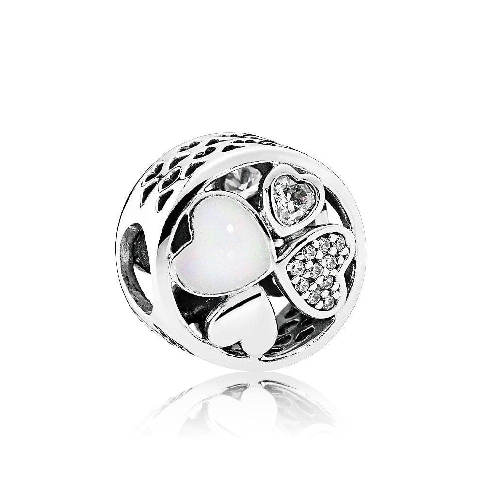 Pandora Hjerte Sterling Sølv Charm 792143CZ