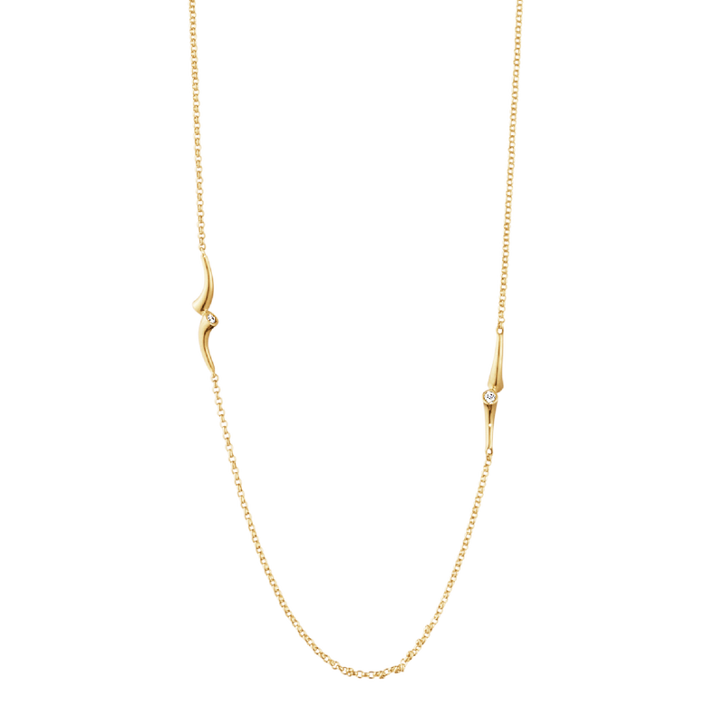 Georg Jensen Magic Sautoir 18 Karat Guld Halskæde med Diamanter 0,28 Carat