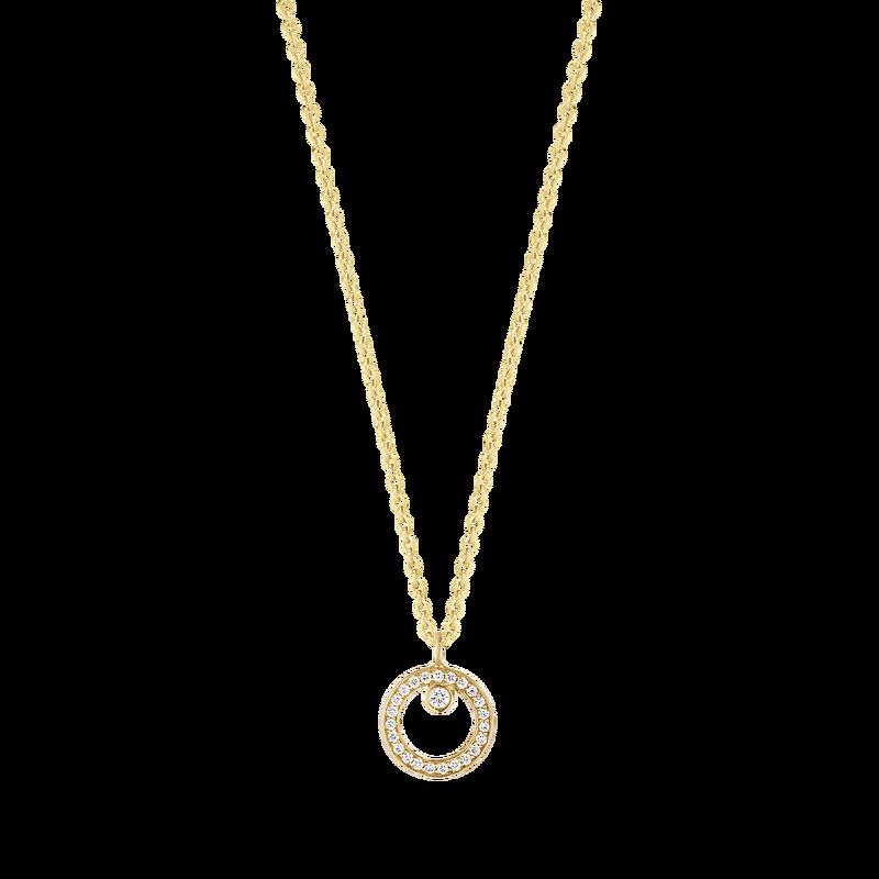 Image of   18 Karat Guld Vedhæng fra Georg Jensen med Diamanter 0,06 Carat TW/SI
