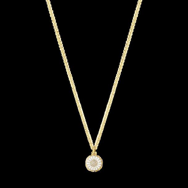 Image of   Georg Jensen Daisy forgyldt halskæde med diamanter
