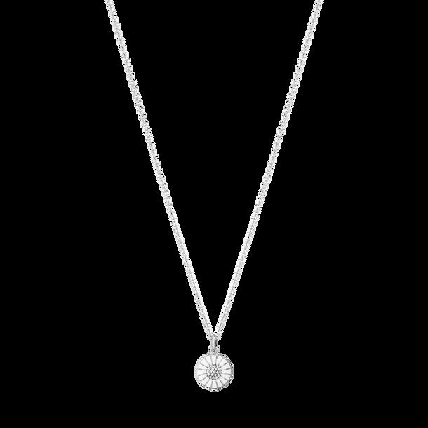 Image of   Georg Jensen Daisy Halskæde i Rhodineret Sølv med Diamanter