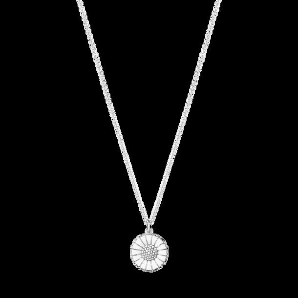 Image of   Georg Jensen Daisy Halskæde i Rhodineret Sølv med Diamanter 10010536