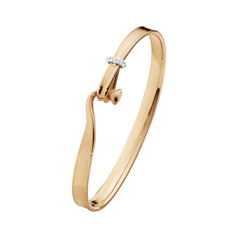 Image of   Georg Jensen Medium Torun Armring i 18 Karat Rosaguld med Diamanter 0,08 Carat TW/VS