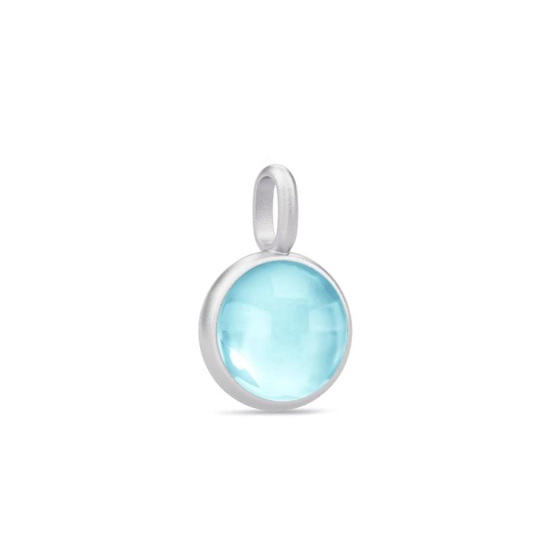 Prime Sterling Sølv Vedhæng fra Julie Sandlau med Lyseblå Krystal
