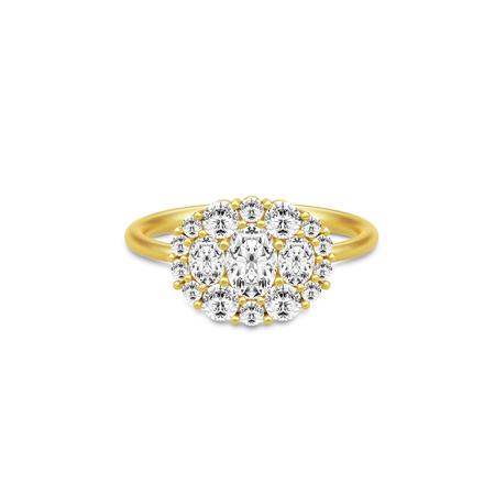 Julie Sandlau Glamour Ring i Forgyldt Sølv thumbnail