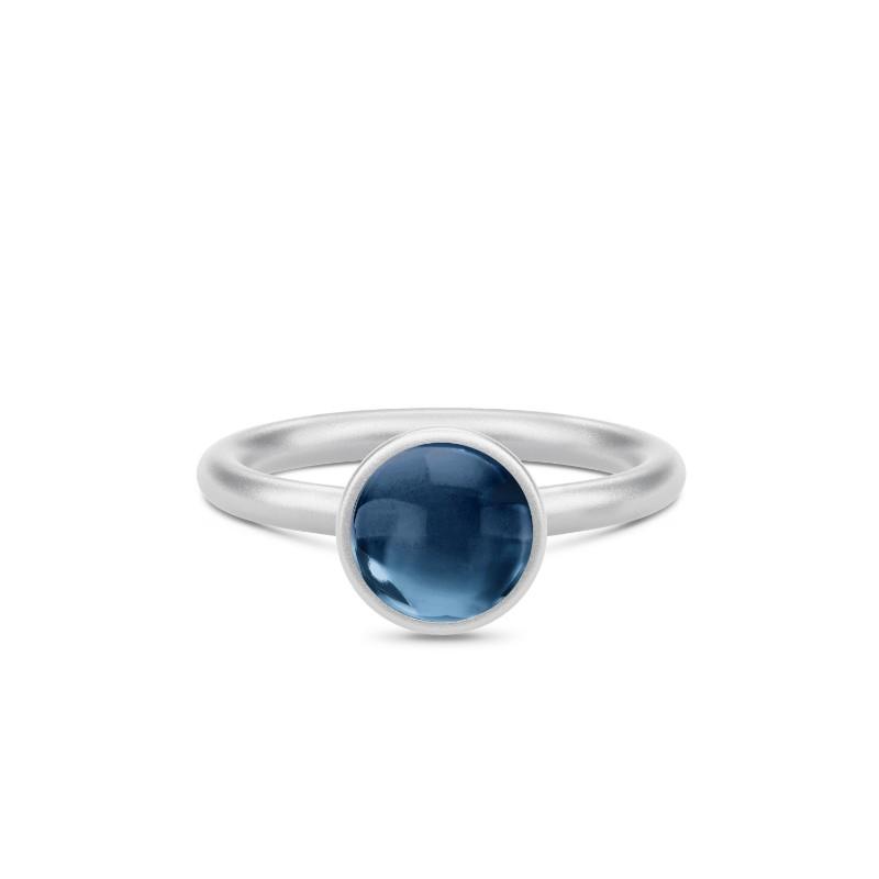 Julie Sandlau Primini Sterling Sølv Ring med Safirblå Krystal