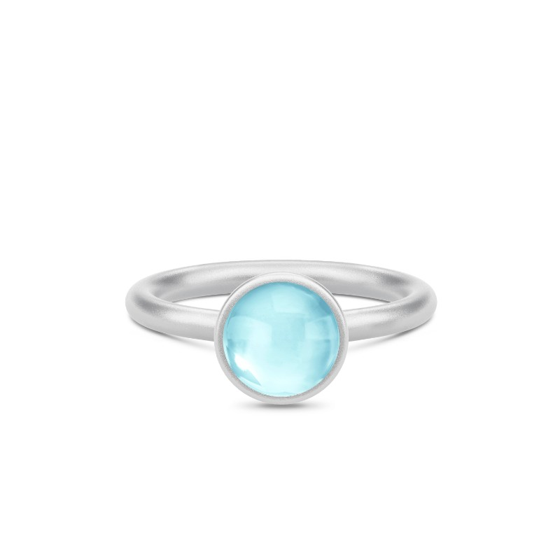 Primini Sterling Sølv Ring fra Julie Sandlau med Sky Blue Krystal