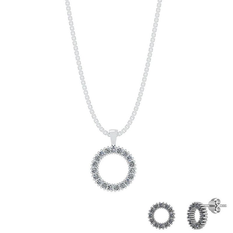 Image of   Smykkekæden Sterling Sølv Smykkesæt SÆT578
