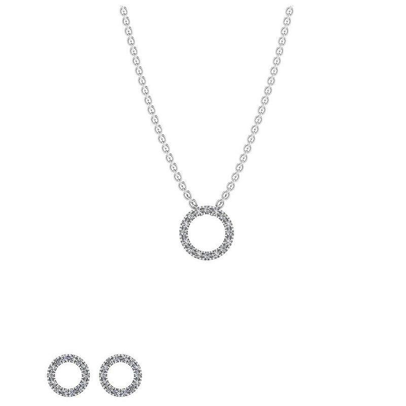 Image of   Sterling Sølv Smykkesæt fra Smykkekæden SÆT581