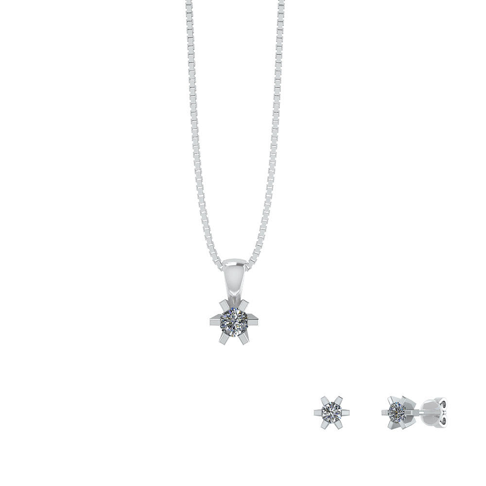 Image of   Smykkekæden Smykkesæt i Sterling Sølv SÆT601