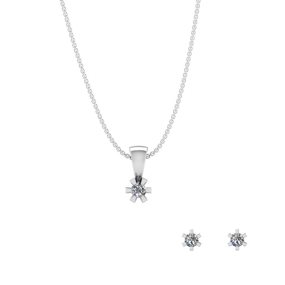 Image of   Sterling Sølv Smykkesæt fra Smykkekæden SÆT605
