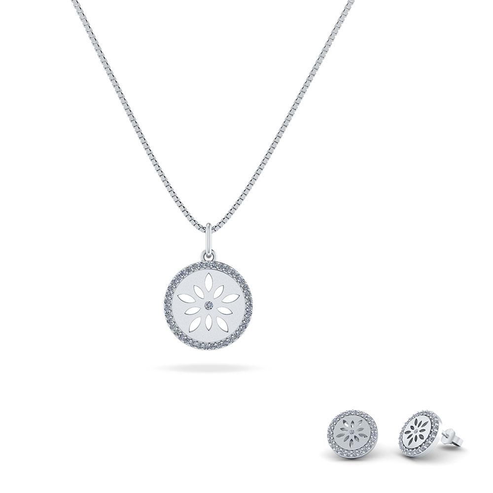 Image of   Stjerne Sterling Sølv Smykkesæt fra Smykkekæden