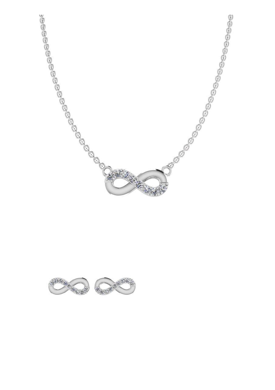 Image of   Uendelighedstegn Sterling Sølv Smykkesæt fra Smykkekæden