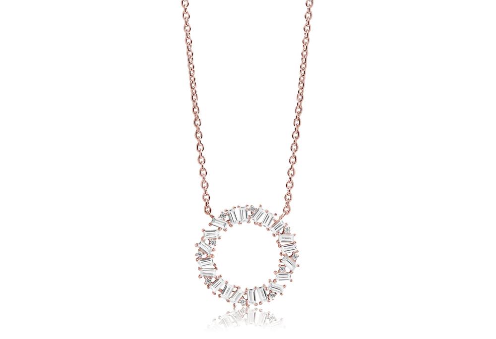 Image of   Antello Circolo Grande Rosaforgyldt Sølv Halskæde fra Sif Jakobs