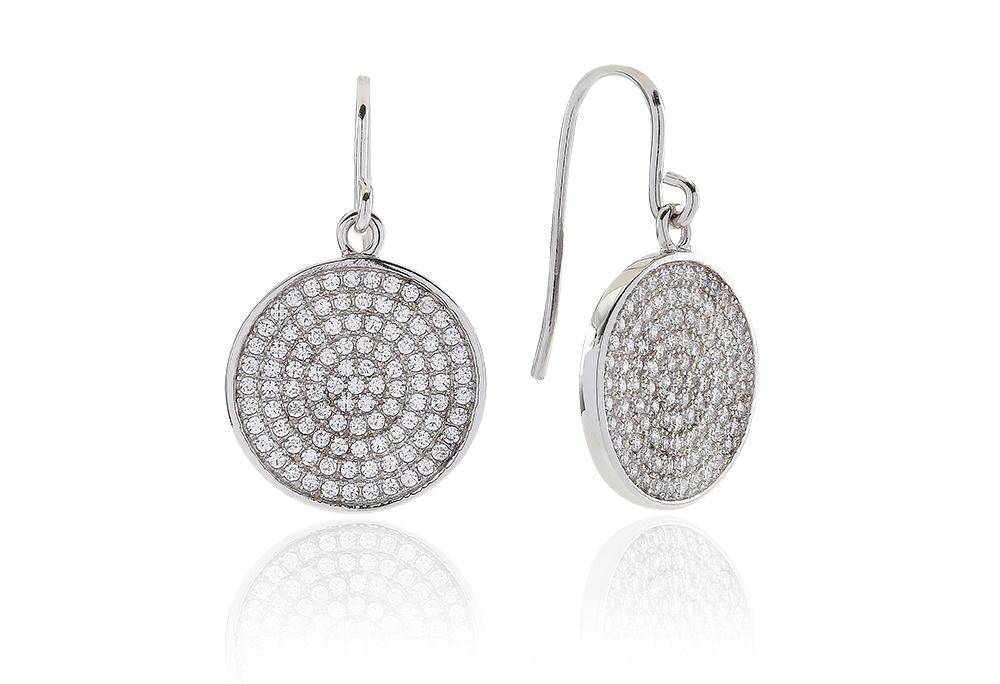 Este Sølv Ørestikker fra Sif Jakobs med Diamant