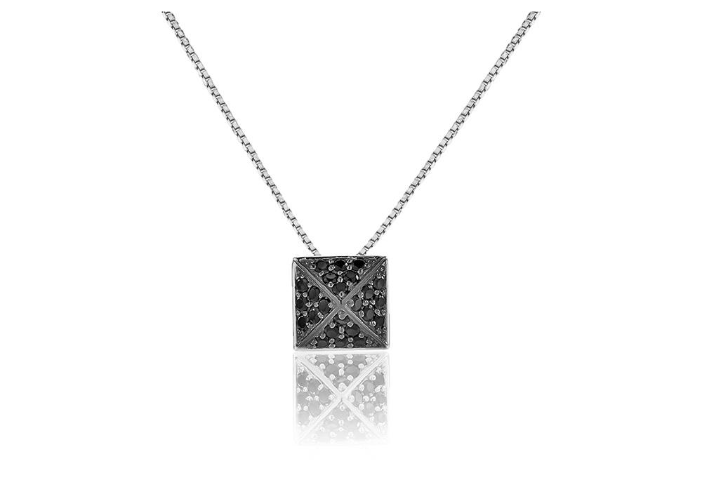 Panzano Sølv Halskæde fra Sif Jakobs SJ-P1851-BK