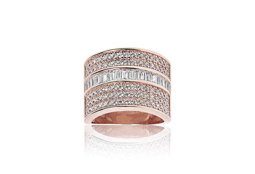 Image of   Corte Grande Forgyldt Sølv Ring fra Sif Jakobs SJ-R003-CZ-RG