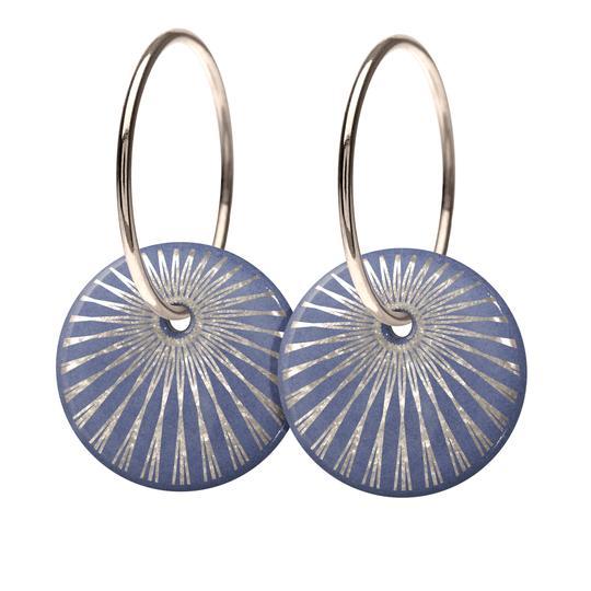 Splash Lavender Sterling Sølv Øreringe fra Scherning med Porcelæn