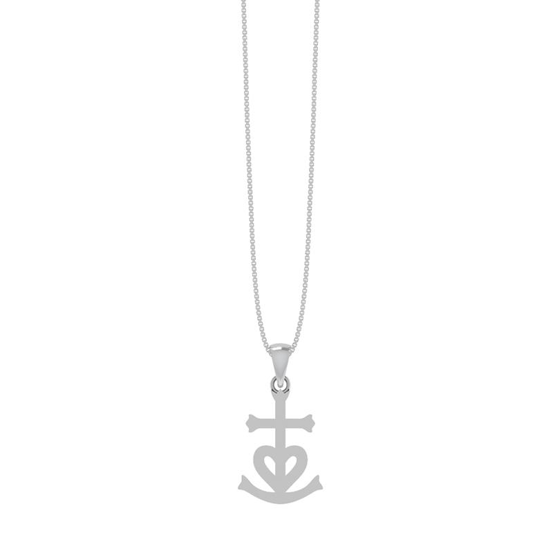 Smykkekæden Tro, Håb Og Kærlighed Sølv Halskæde