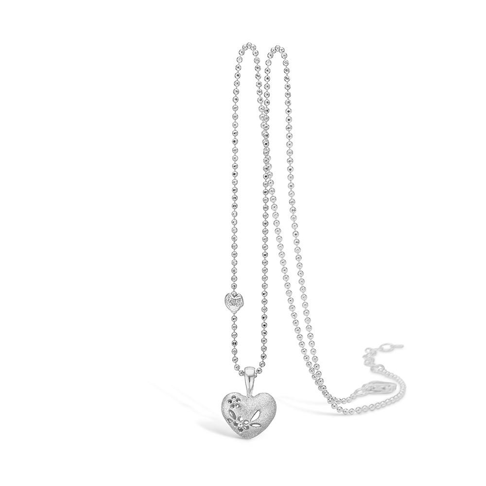 Blossom Halskæde i Sterling Sølv med Hjertemotiv 21301168-45