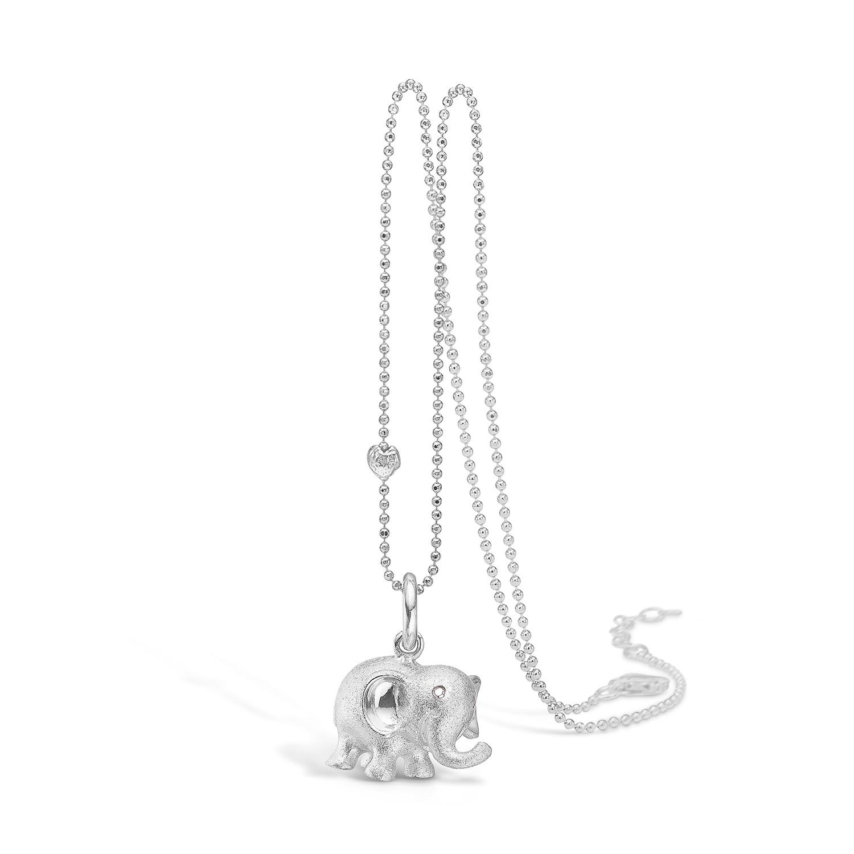 Sølv Halskæde fra Blossom med Elefantmotiv 21321178-80