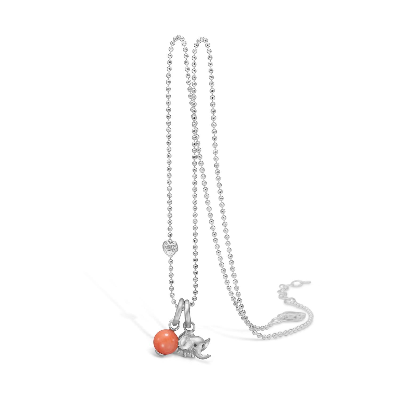 Blossom Sølv Halskæde med Koral 21332102-80